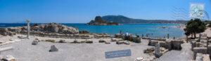 Ancient ruins next to Ag. Stefanos beach