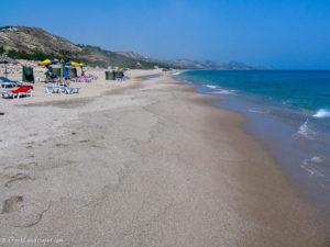 Sand and parasols at Magic beach