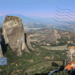 View of Meteora with three monasteries