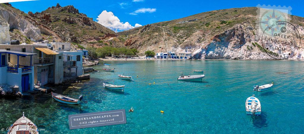 boats and swimmer at Firopotamos