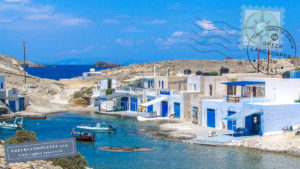 White homes and fishing boats