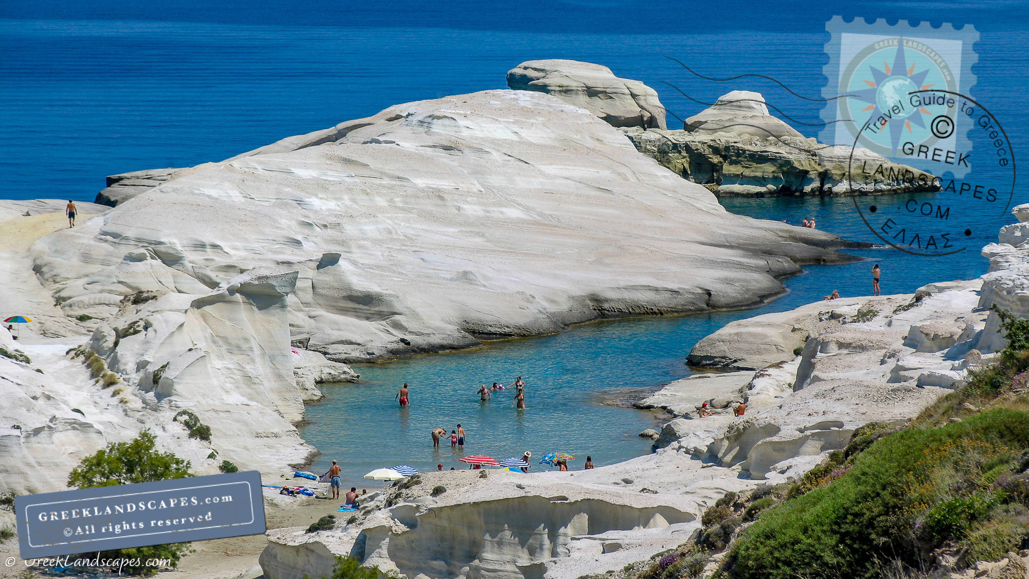 Sandstone dunes at Sarakiniko beach