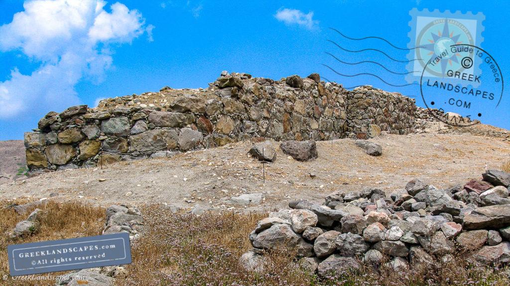 Stone wall at Phylakopi arhchaeological site