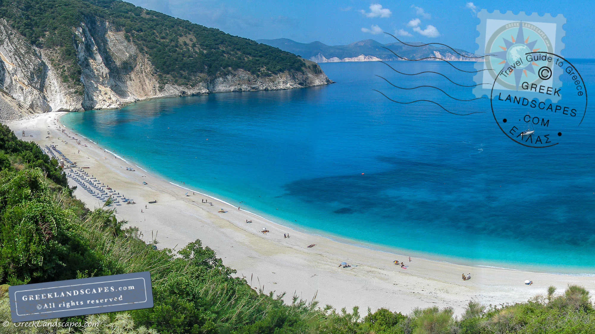 View from above of Myrtos beach