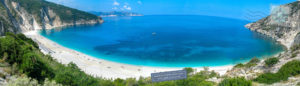 Panorama of Myrtos beach.