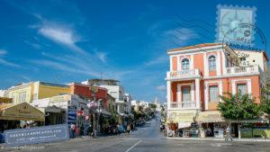 Main road of Tinos town.