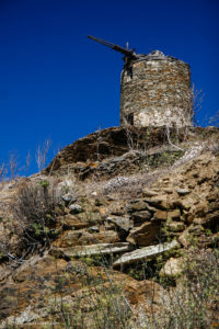 Ruins of an abandoned windmill