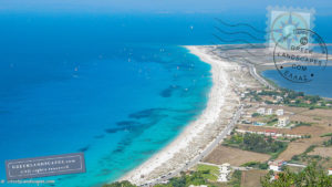 Lefkada long beach from above