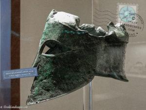 Bronze helmet of Miltiades