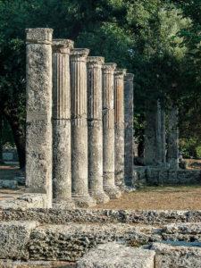 Columns in a row, at the Palaistra
