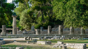 Ruins of the Heraion at ancient Olympia