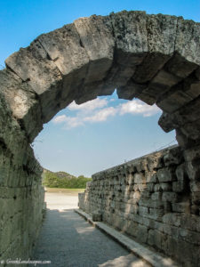 Vaulted roof of the ancient stadium entrance at Olympia