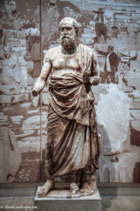 Marble statue of an old man