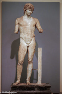Marble statue of nude man
