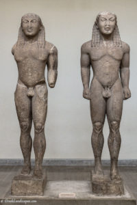 Marble statues of two men