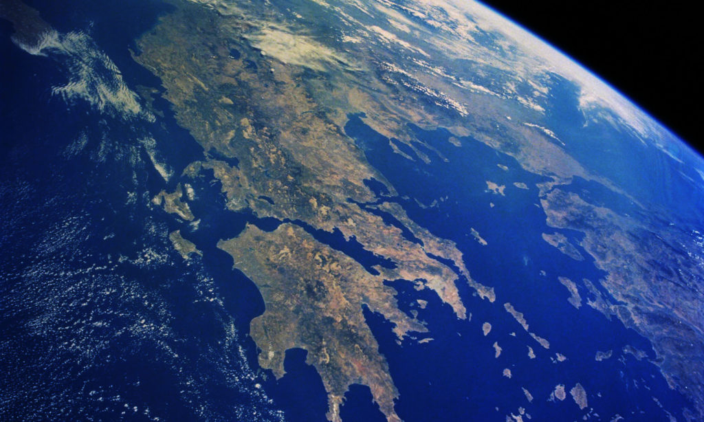 Satellite image of Greece