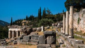 Ruins at Delphi ancient site