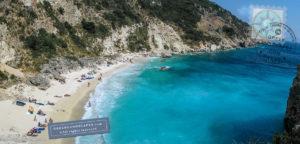 Panoramic view of Agiofili beach