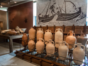 Ancient vases in the museum
