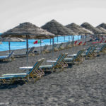 Sun beds and parasols at the beach