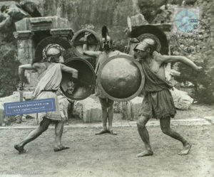 Sword fight in the modern Pythian Games