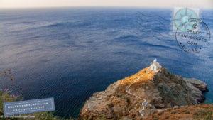Church atop a headland in the sea