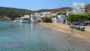 Faros beach and town