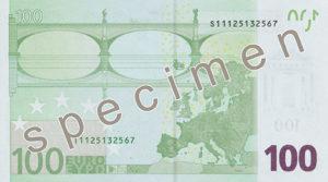 Photo of 100 Euro specimen