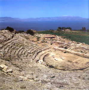 ancient theater view from above