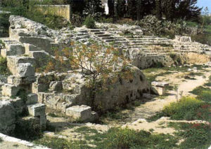 View of theater ruins