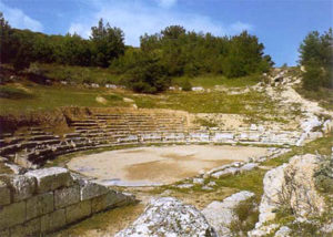 View of ancient theater