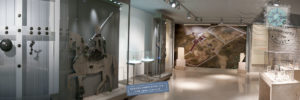 Museum view of Dodoni Bouleuterion gate.