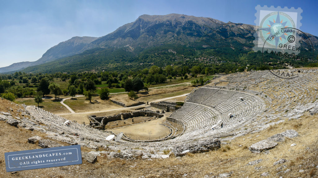 View of ancient theatre at Dodoni