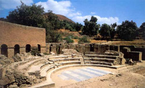 The well preserved theater at Gortyn