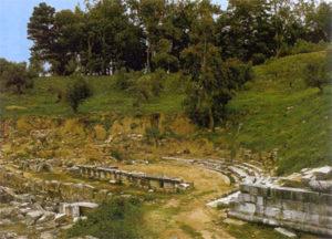 Ruins of Sparta's ancient theatre