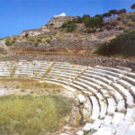 Stone seats at Milos theater