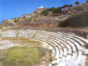 Stone seats at Milos theater