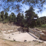 The well preserved ruins of Oropos theatre