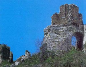 Brick wall ruins of Nikopolis large theater