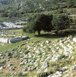 Stone ruins of Cassope theatre