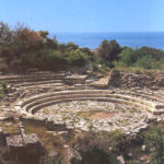 Stone ruins of Samothrace theatre