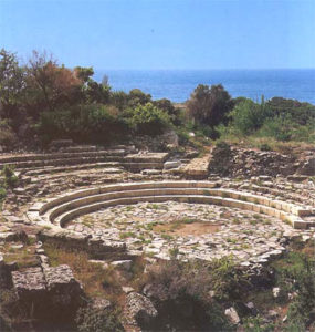 Stone ruins of Samothrace theatre