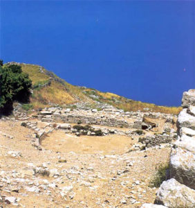 Ruins of ancient Thera theatre