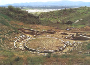 The ruins of Stratos theater.