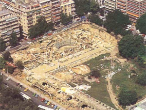 View from above of Thessaloniki theater