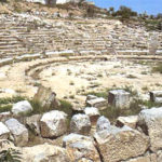 Ruins of Orchomenos ancient Greek theater